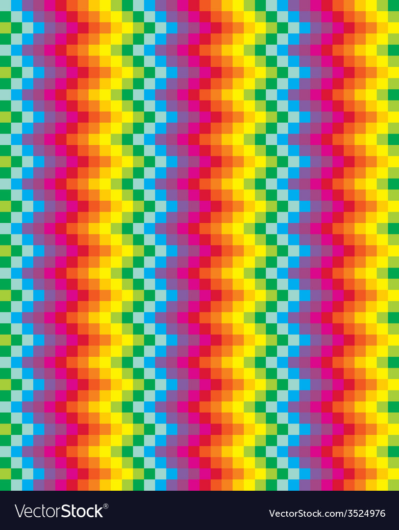 Rainbow pixel pattern