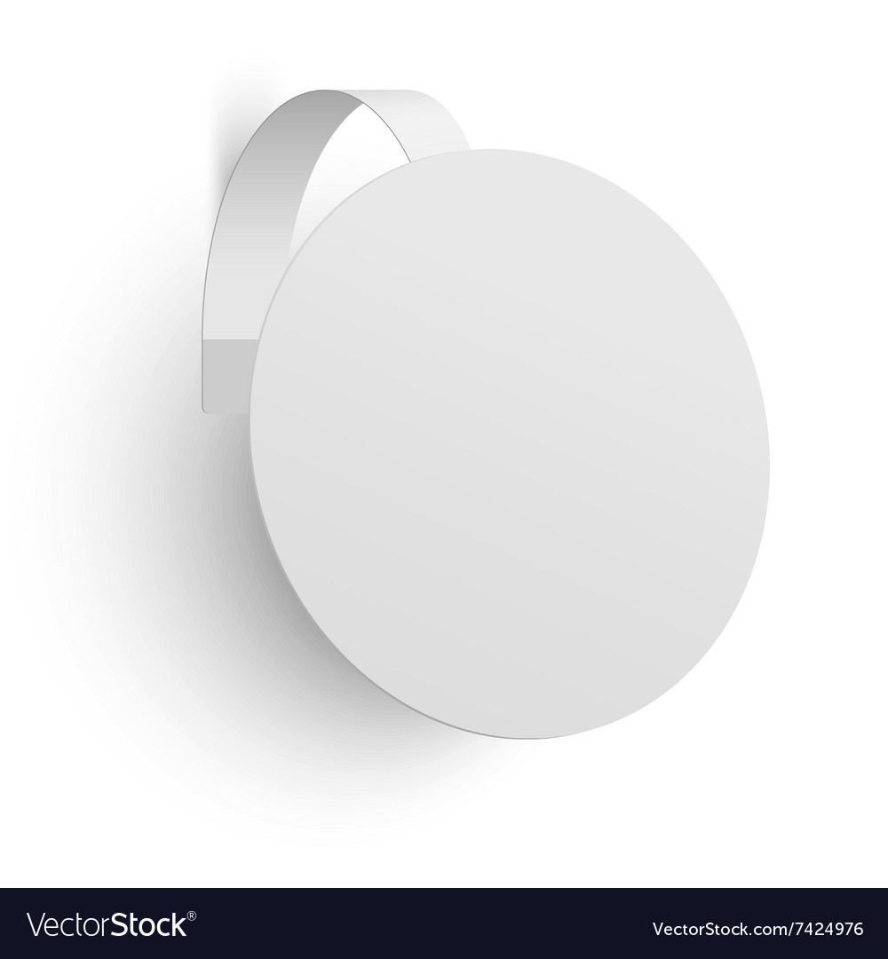 White advertising wobbler isolated vector image