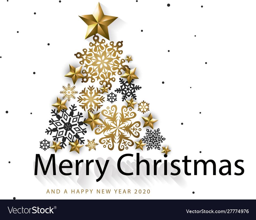 White golden merry christmas background