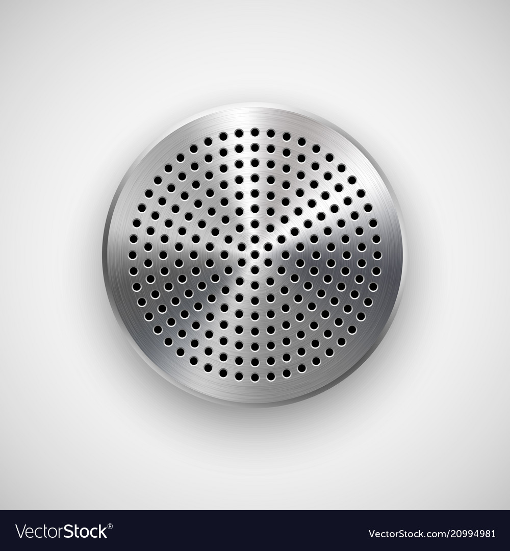Abstract circle button template vector image