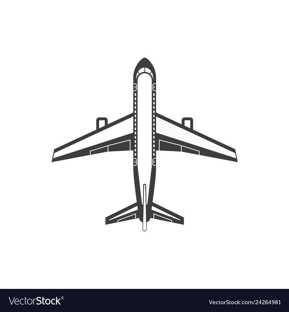 Airplane simple icon