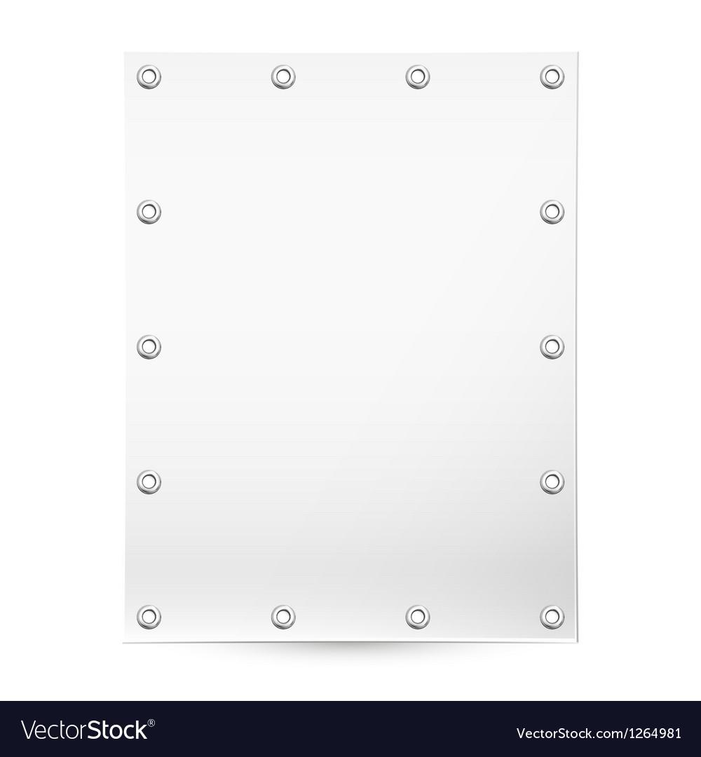 Blank white banner vector image