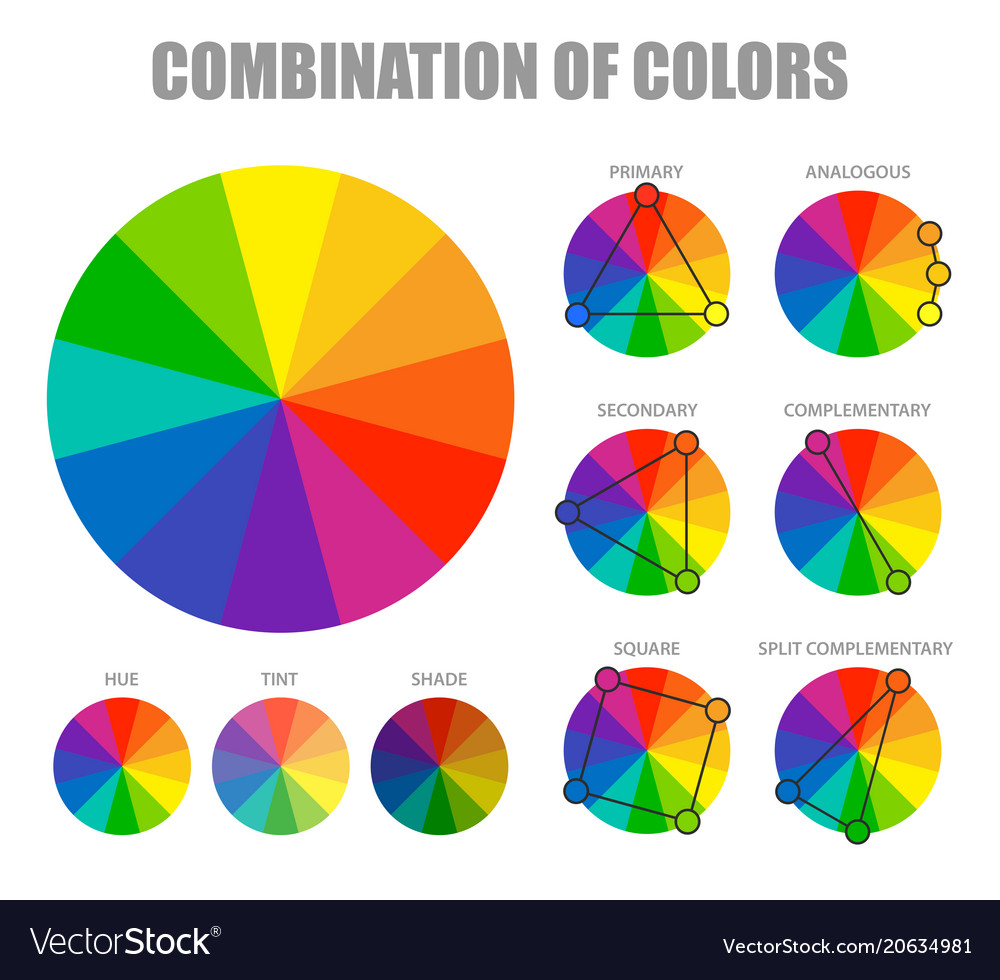 Color combination scheme poster Royalty Free Vector Image