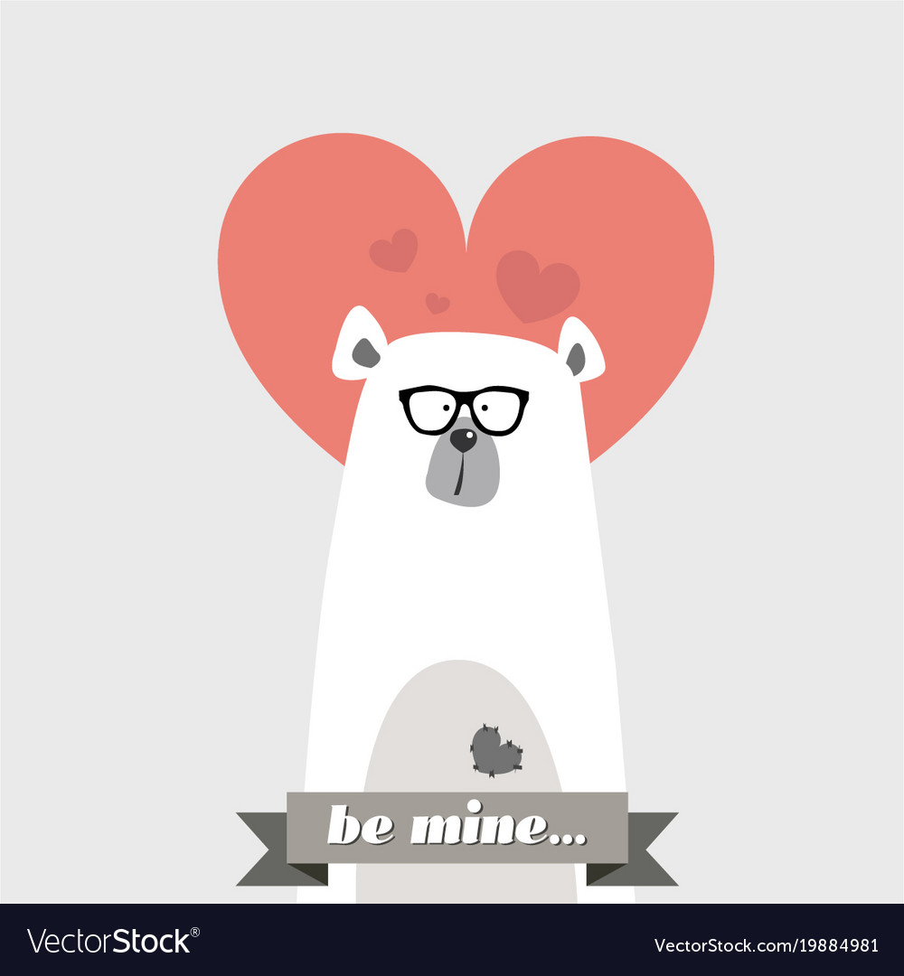 Comic hipster bear with glasses from the valentine comic hipster bear with glasses from the valentine vector image voltagebd Choice Image