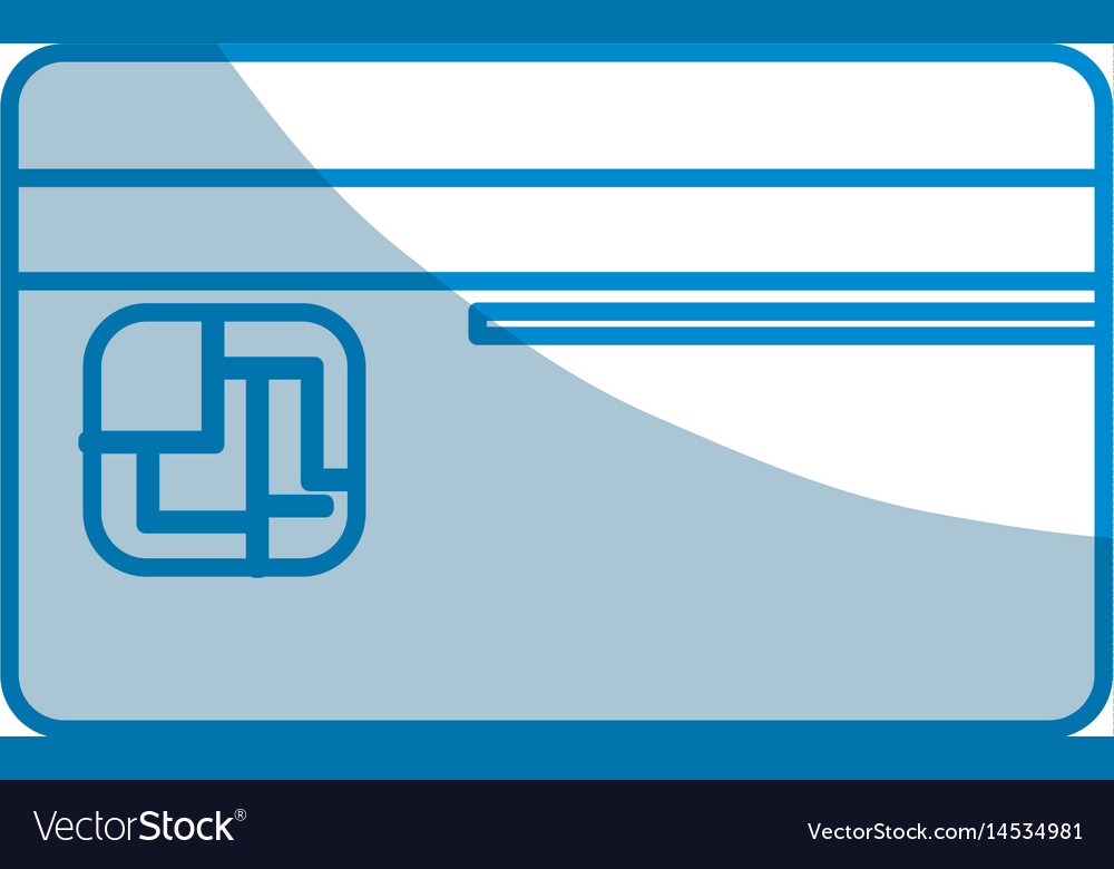 Contour credit card to save money in the bank vector image
