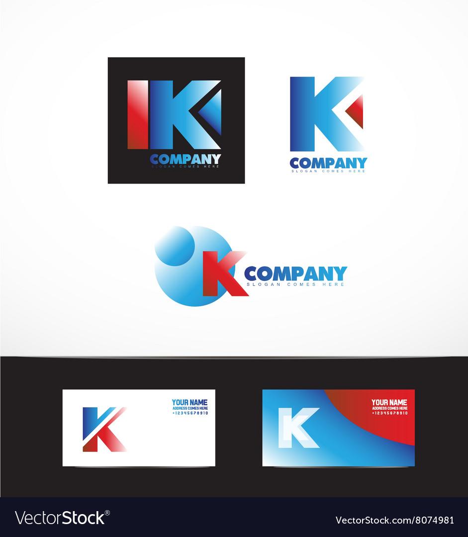 Letter K logo icon set