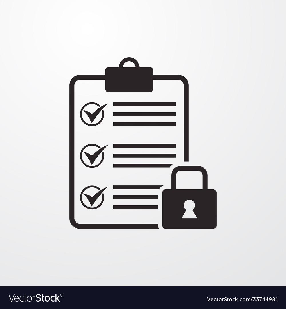 Locked blank sign icon blank symbol flat