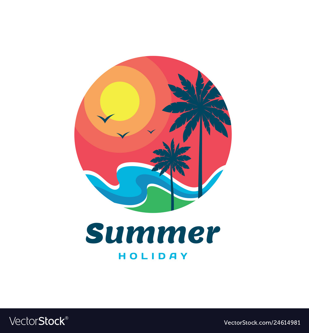Summer holiday - concept business logo template