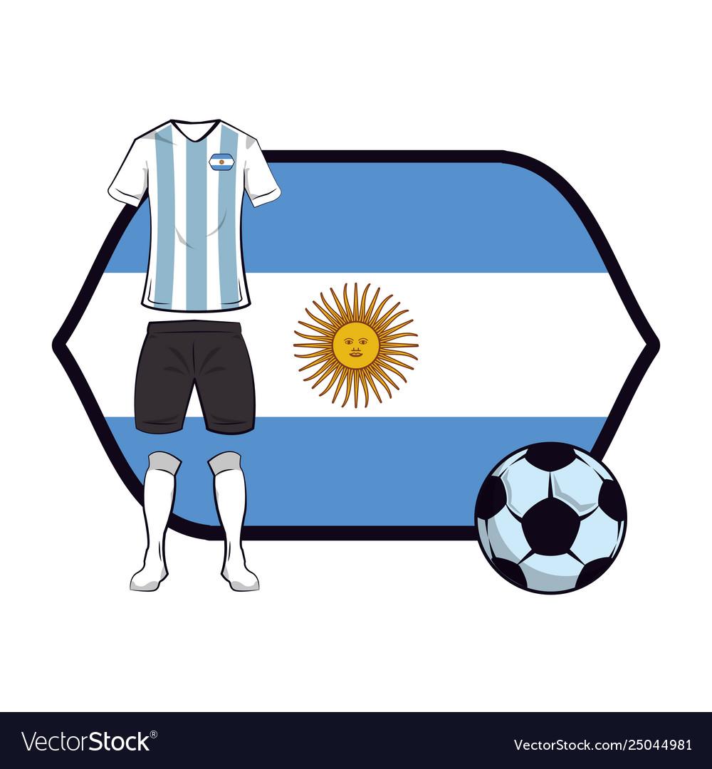 4802c865476 Uruguay soccer uniform Royalty Free Vector Image