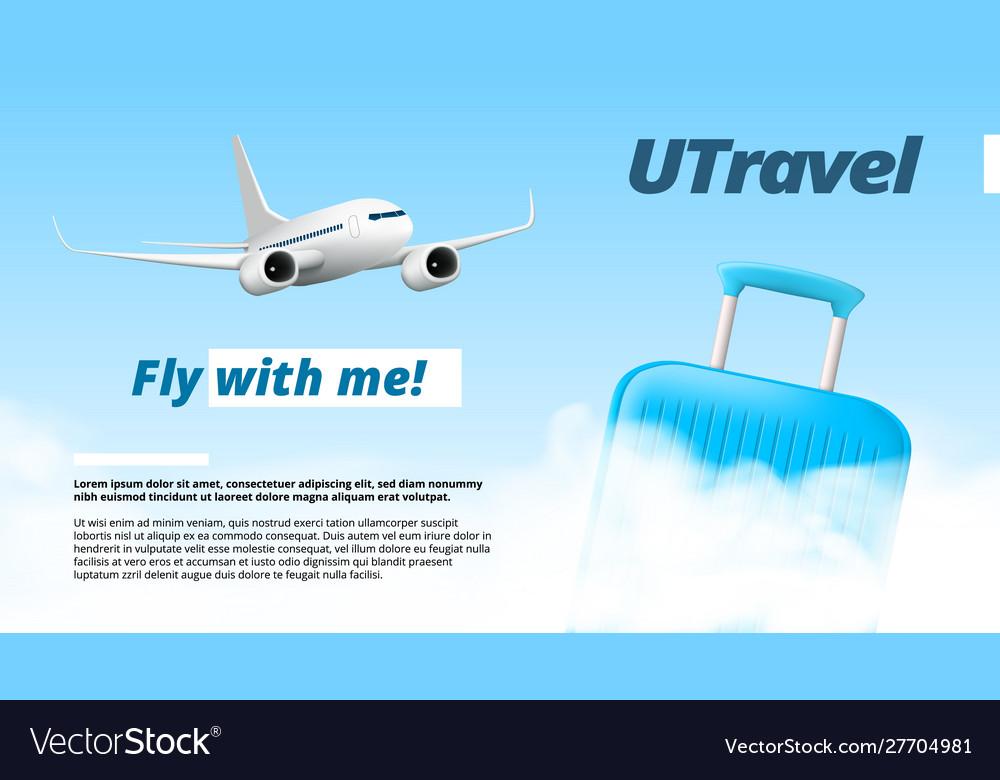 You travel air company logo template design