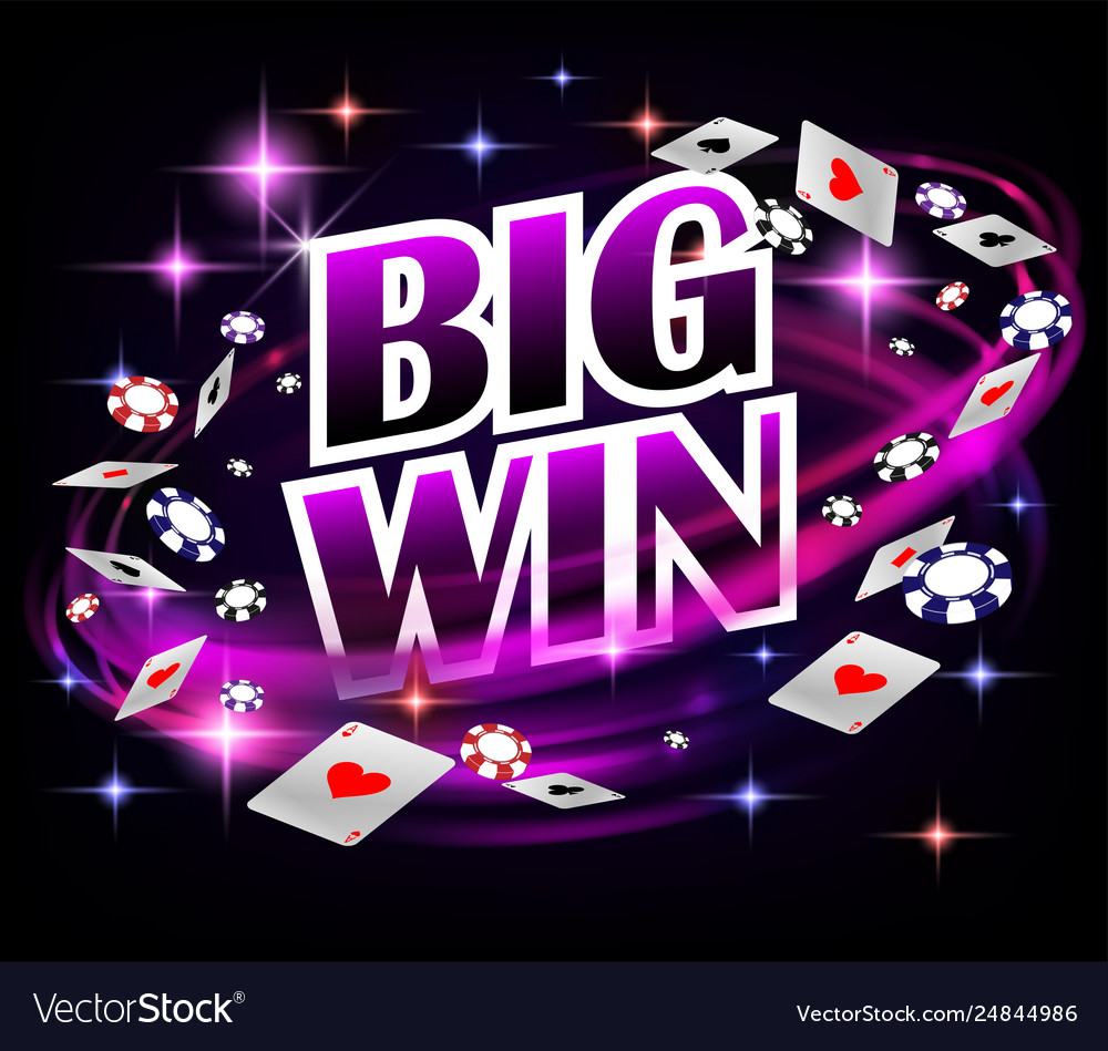 Biw win casino gambling poker design poker banner vector
