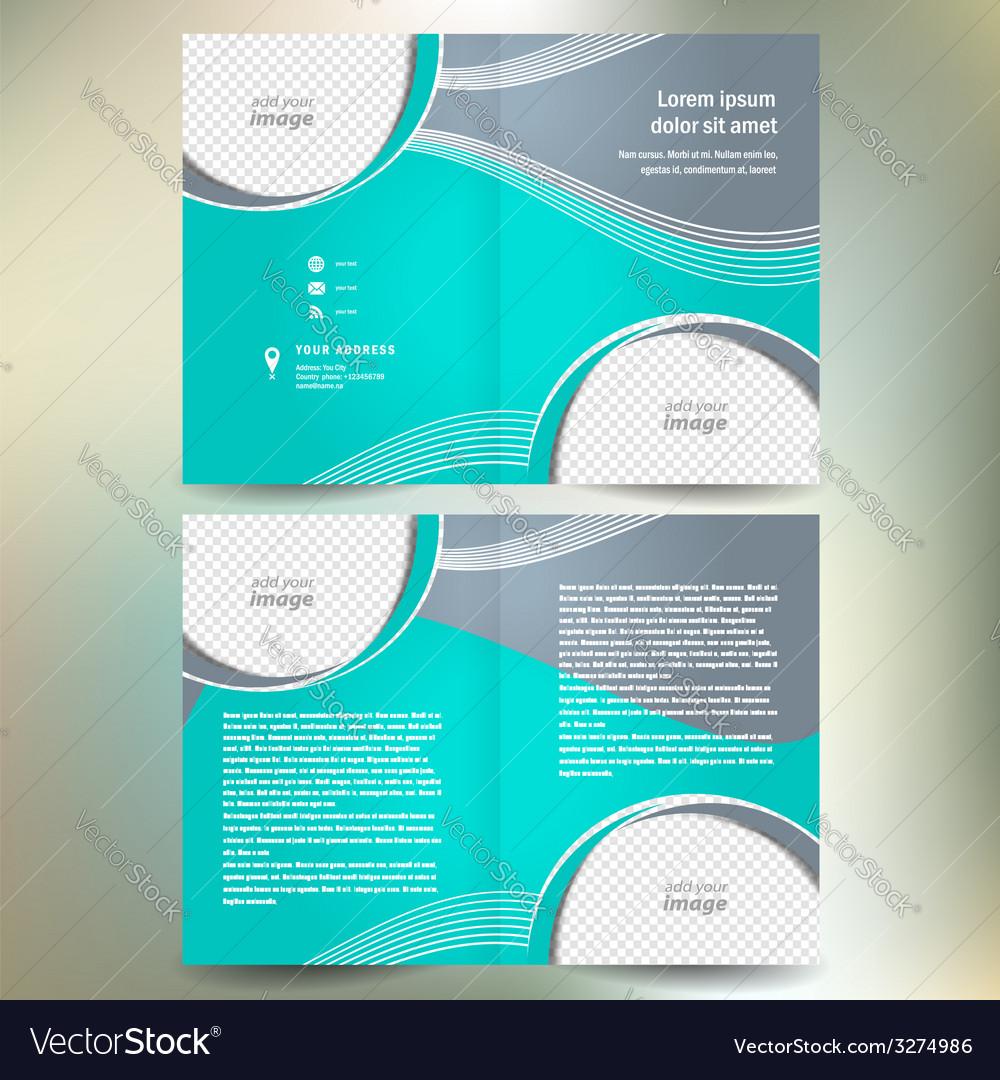 Vector presentation folder design template. Royalty free cliparts.