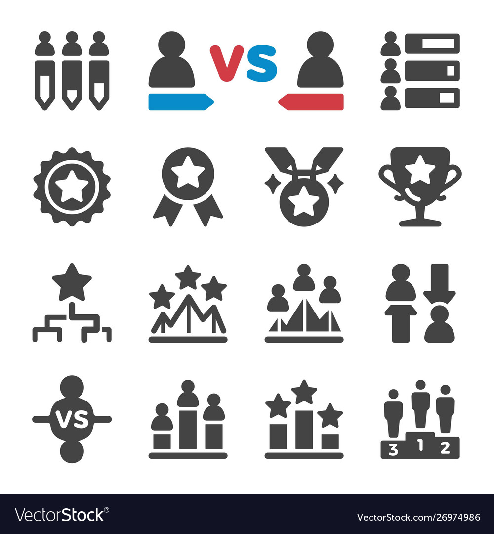 Competition icon set