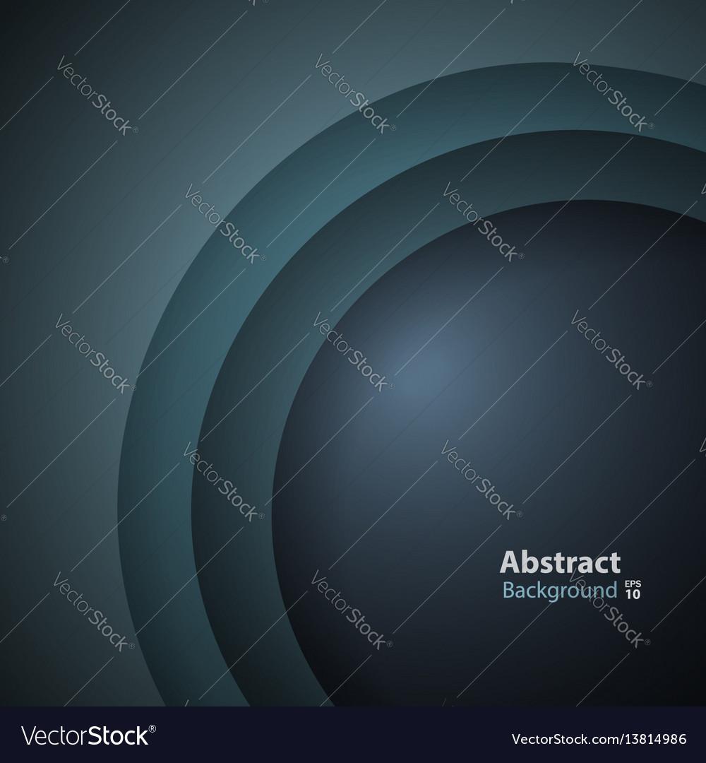 Dark green turquoise round layer background vector image