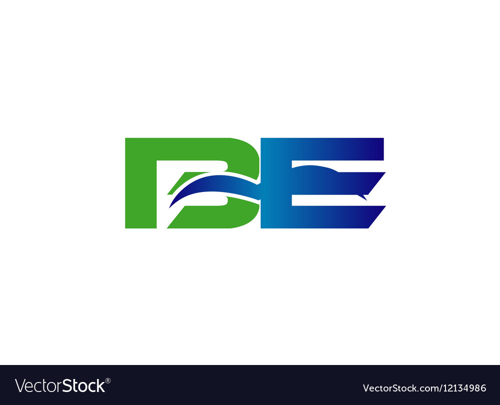 DE company linked letter logo
