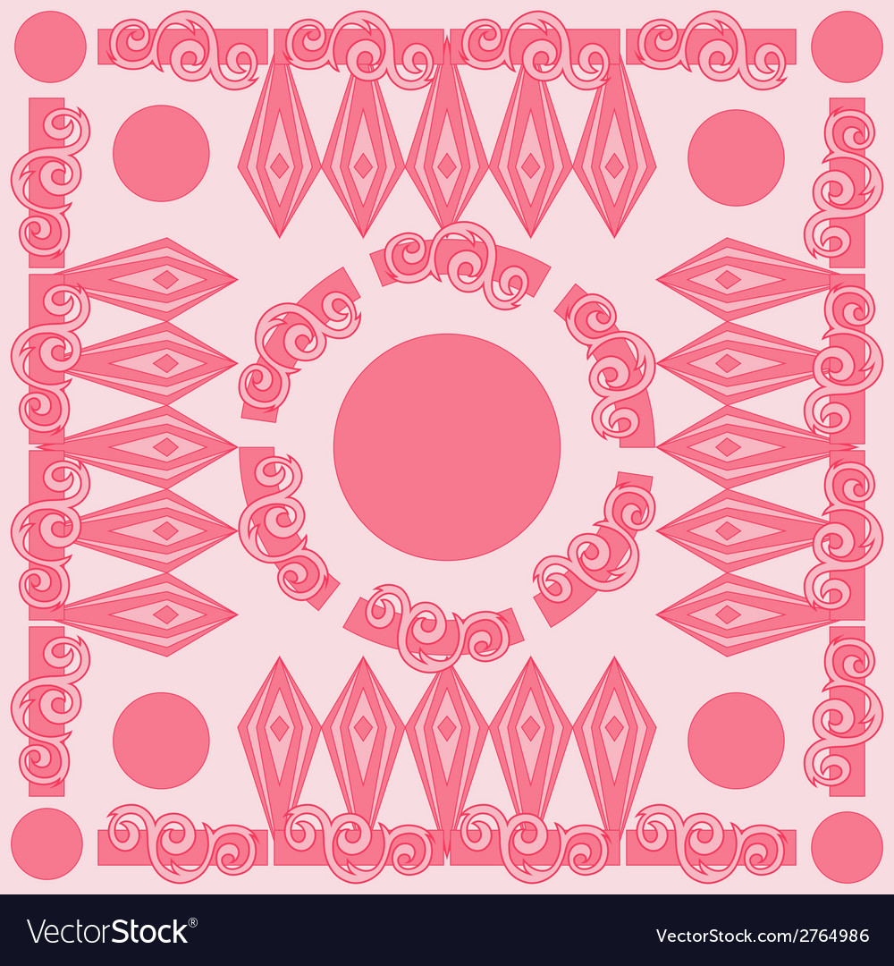 Decorative Pink Pattern Card