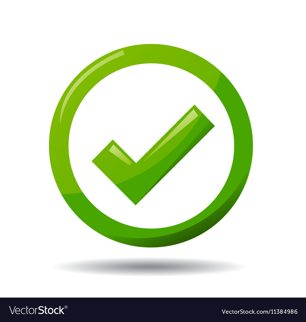 Green Check Mark Symbol Royalty Free Vector Image