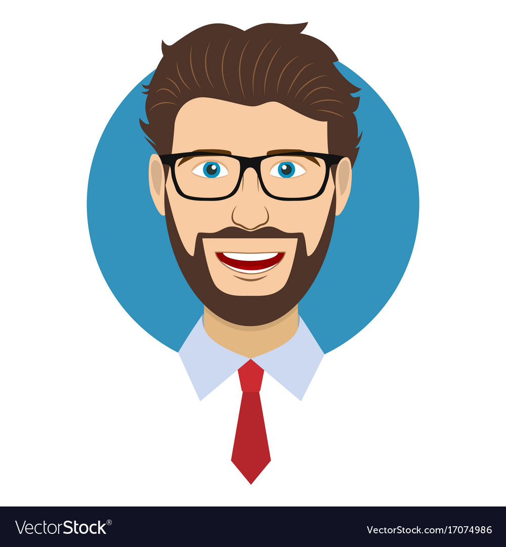 man character face avatar in glasses royalty free vector rh vectorstock com vector facebook logo download vector facelift