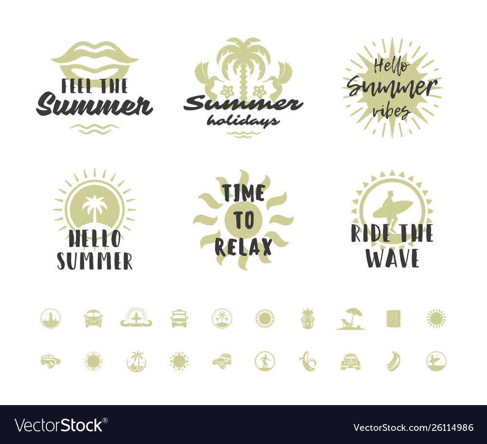 Summer holidays typography inspirational quotes