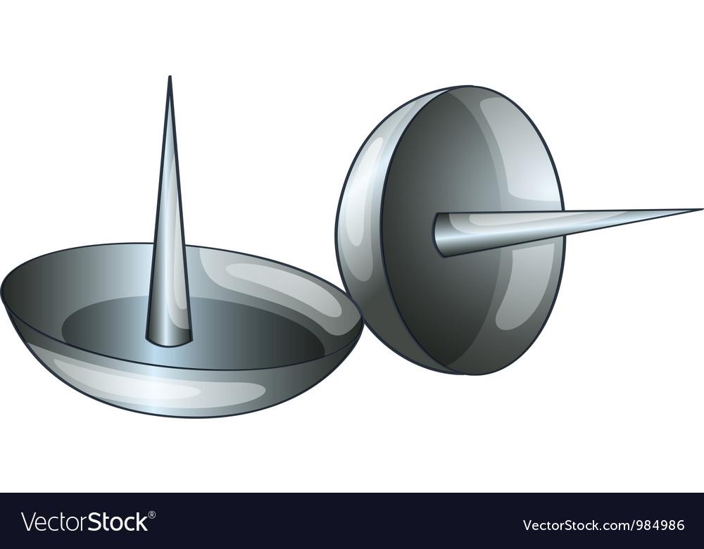 thumb tacks royalty free vector image vectorstock