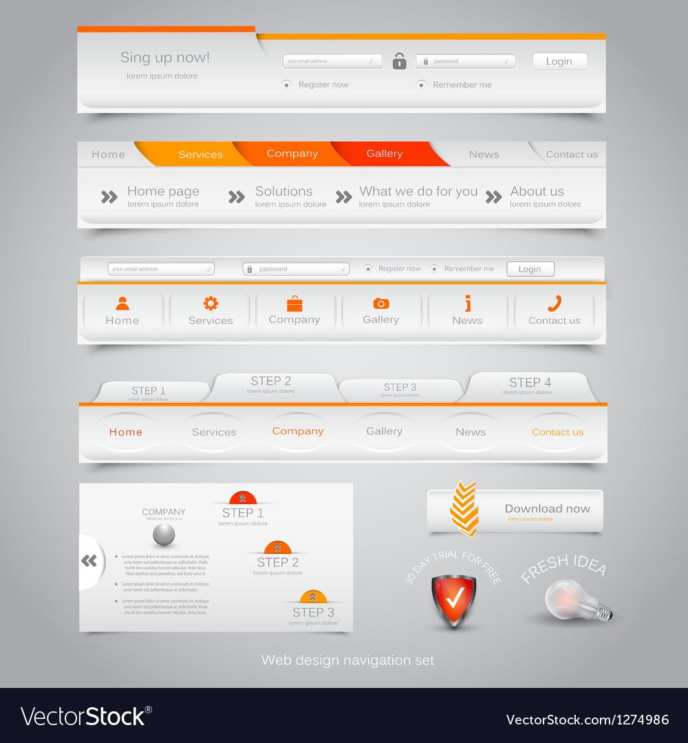 Web site navigation menu pack 23