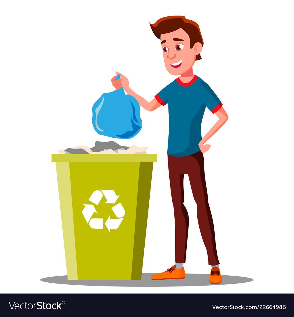 сексуальные на этой картинке мужчина выбрасывает мусор ранних