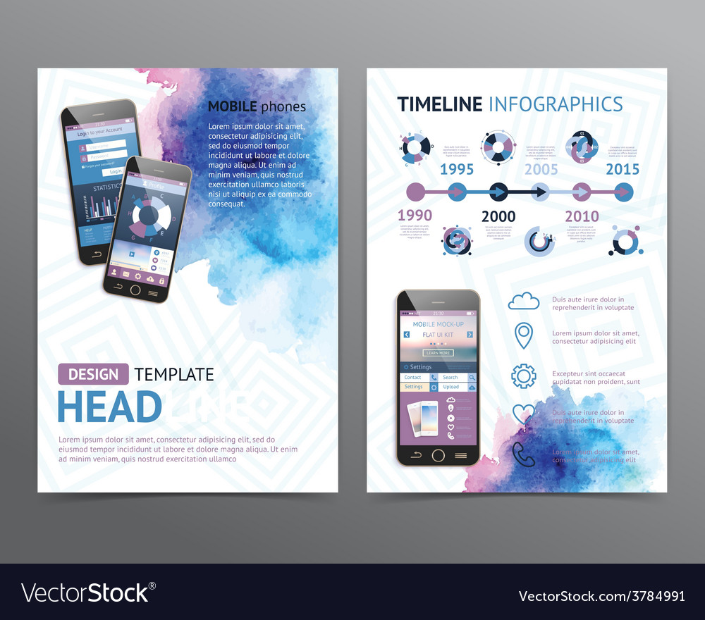 Abstract brochure template flyer layout