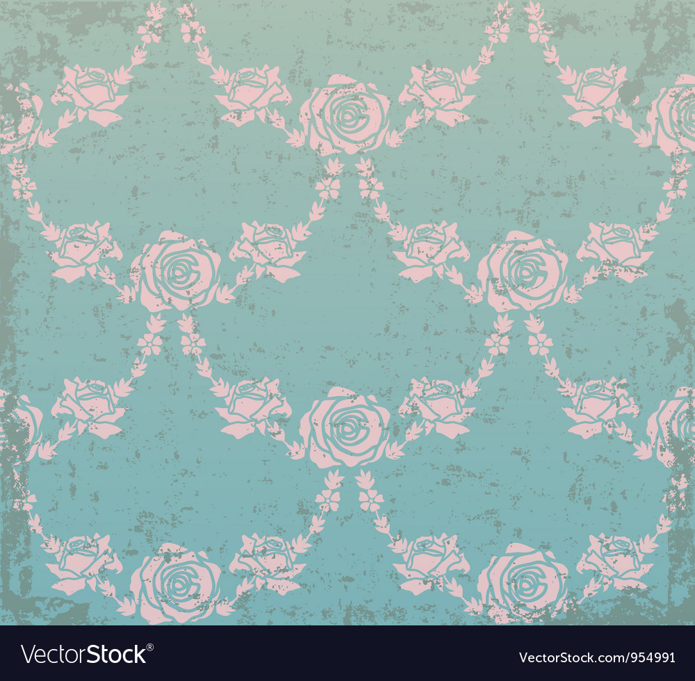 Abstract flower elements on grunge background vector image