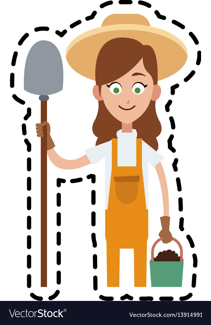 Farmer cartoon icon imag