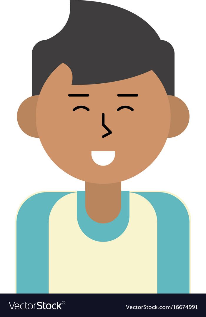Happy man cartoon icon image