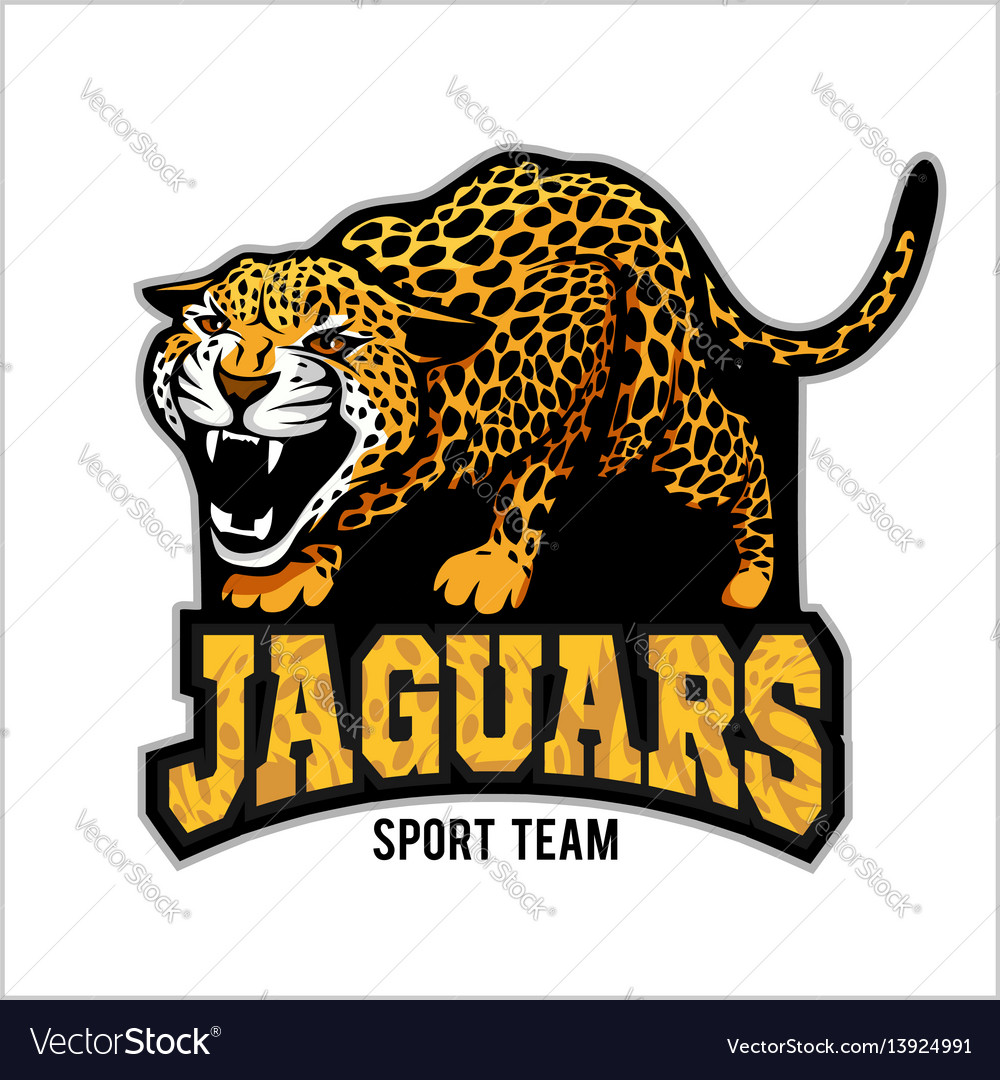 jaguar mascot emblem for sport team royalty free vector rh vectorstock com Jaguar Mascot Clip Art of Cartoon School Jaguar Mascot Clip Art of Cartoon School