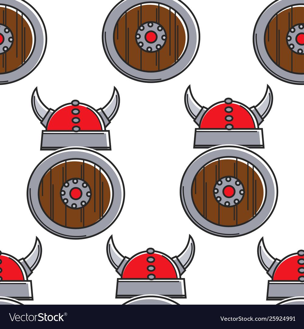 Norway history vikings armory seamless pattern