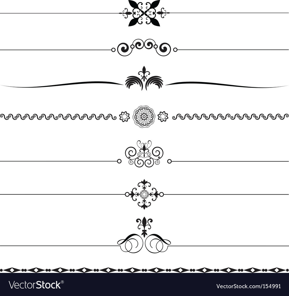 Ornate border vector image