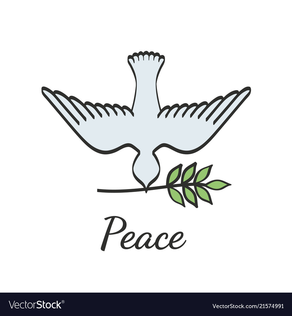 Peace Dove With Olive Branch Royalty Free Vector Image
