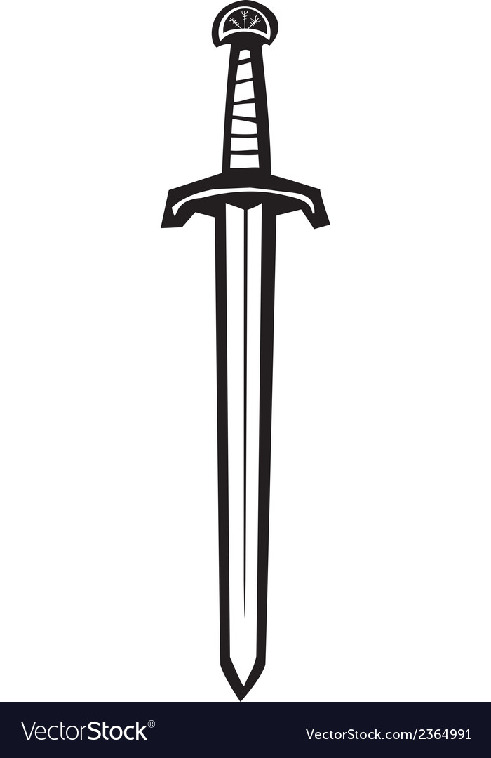 sword royalty free vector image vectorstock rh vectorstock com sword vector free download sword vector art
