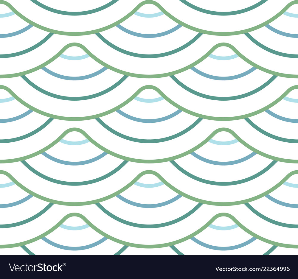 Abstract geometric pattern with wavy lines
