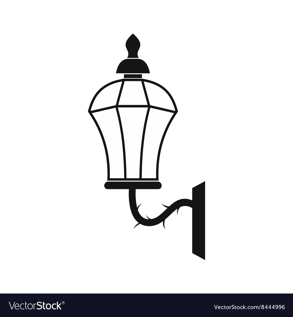 An old lamp in London icon simple style