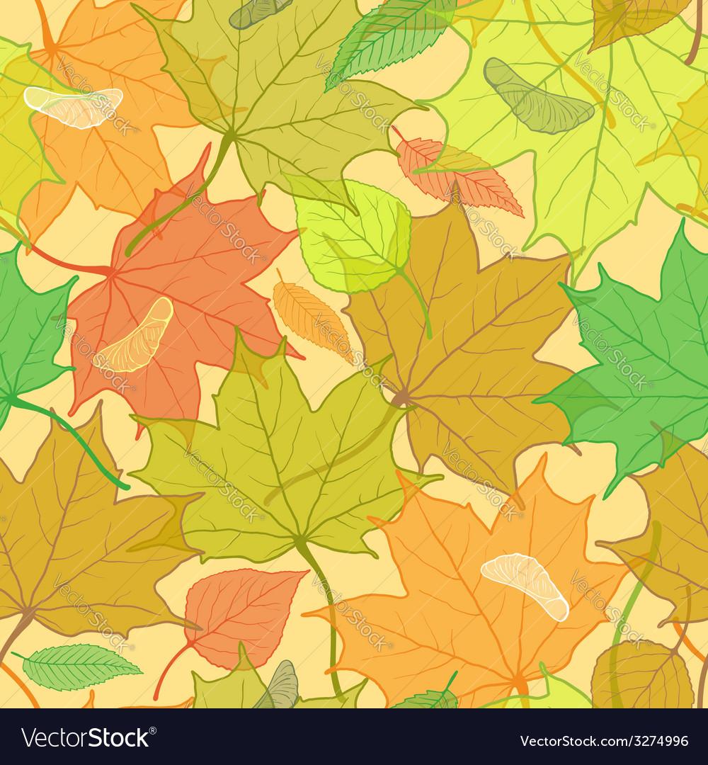 Autumn fallen leaves pattern
