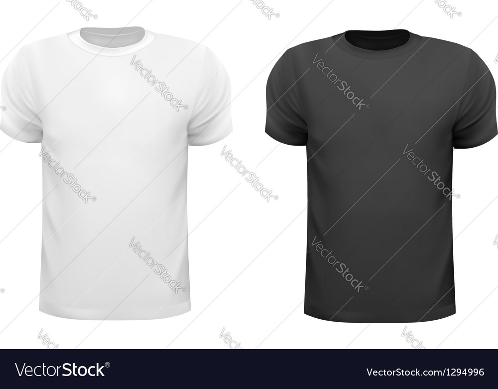 Black and white men polo shirts Design template