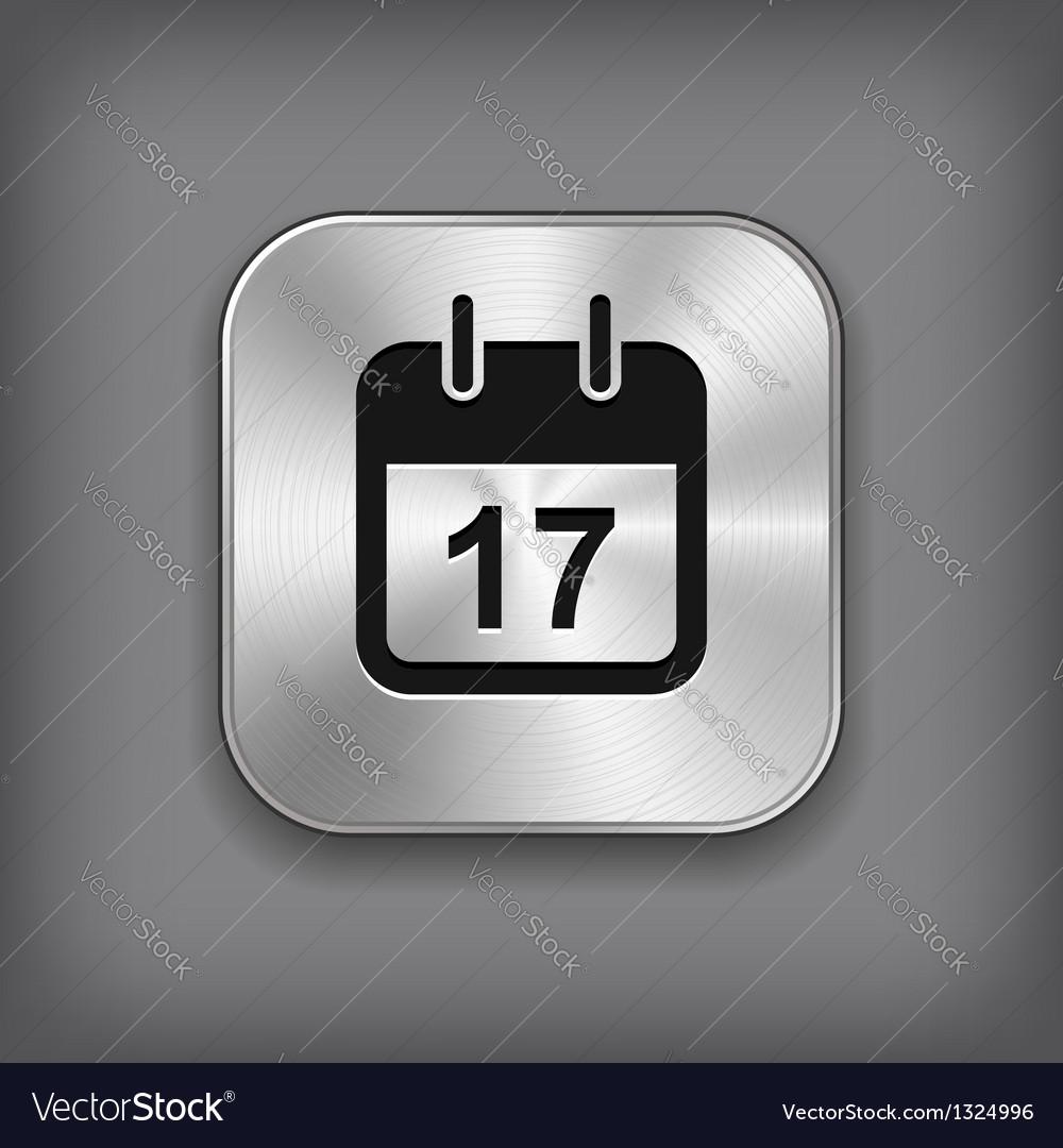 Calendar icon - metal app button