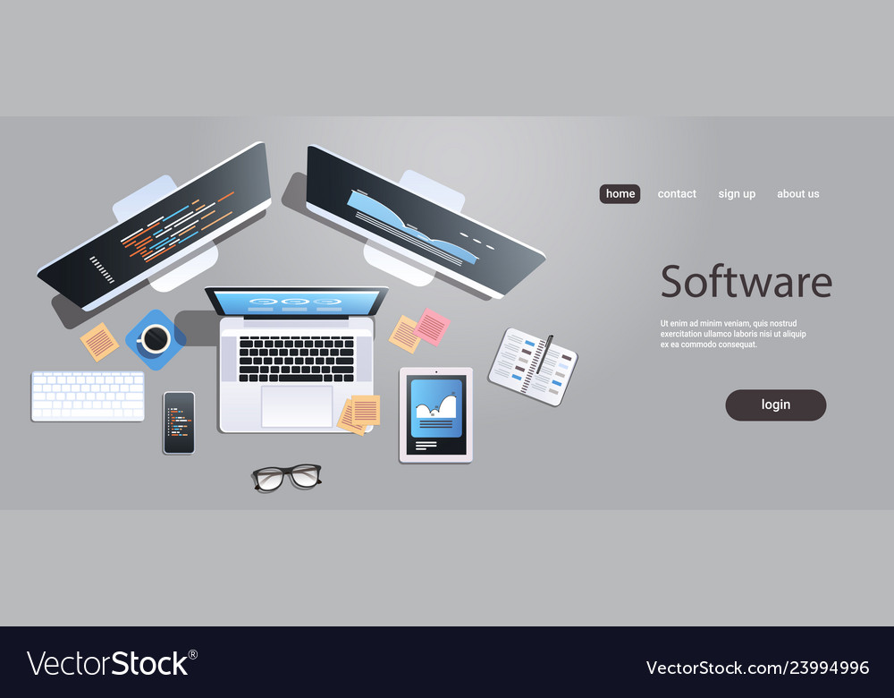 Design software development programming concept