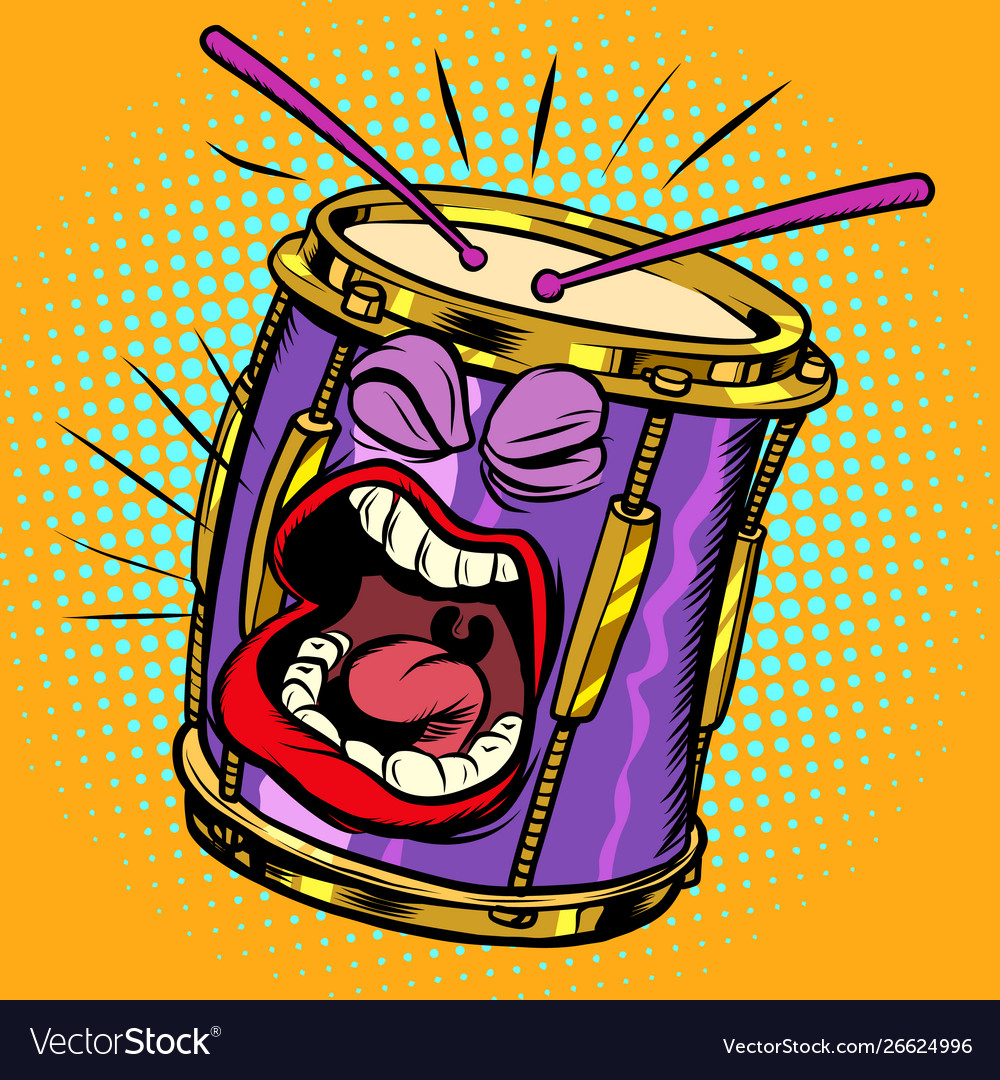 Emoji Character Emotion Drum Musical Instrument Vector Image If an emoji does not appear. vectorstock