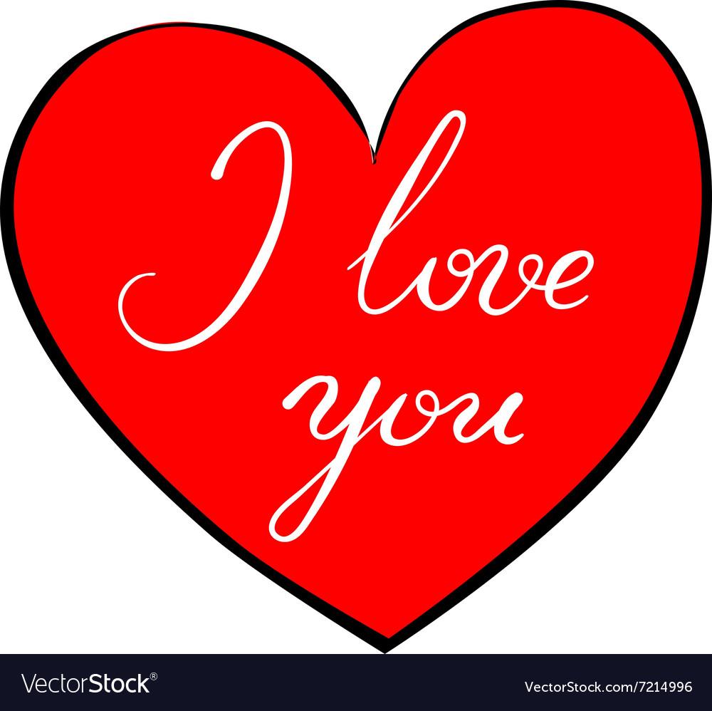 I love you - calligraphy