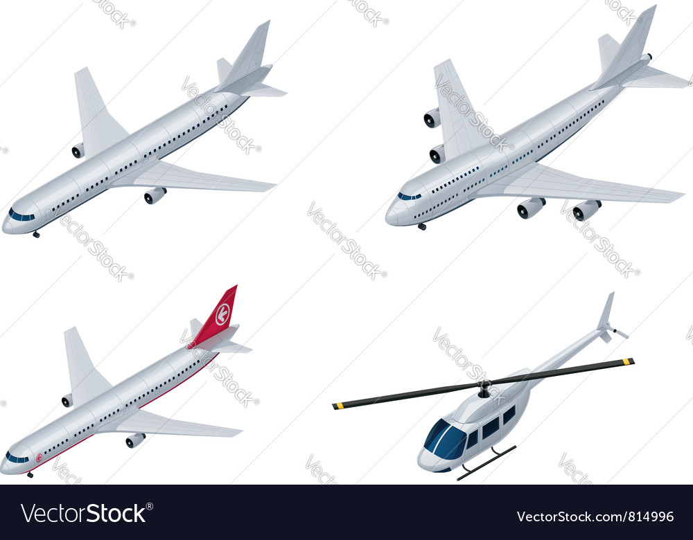 isometric airplanes royalty free vector image vectorstock