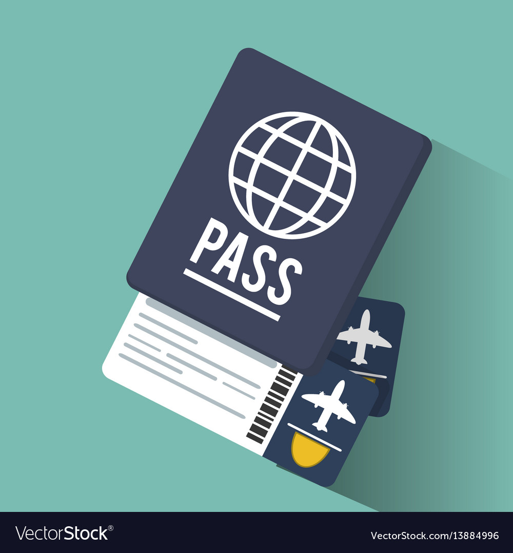 Passport tickets airline vacation