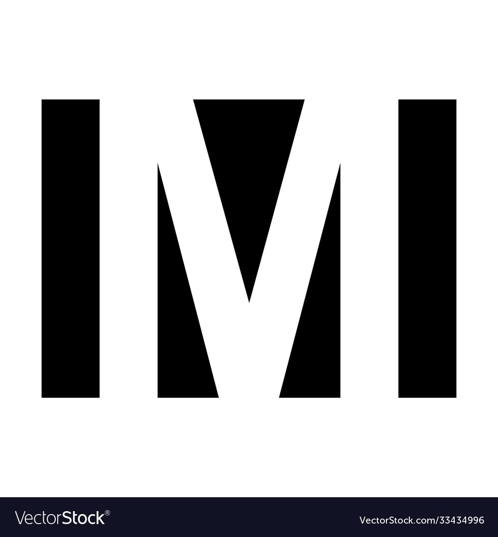 Simple elegant logo letter m premium