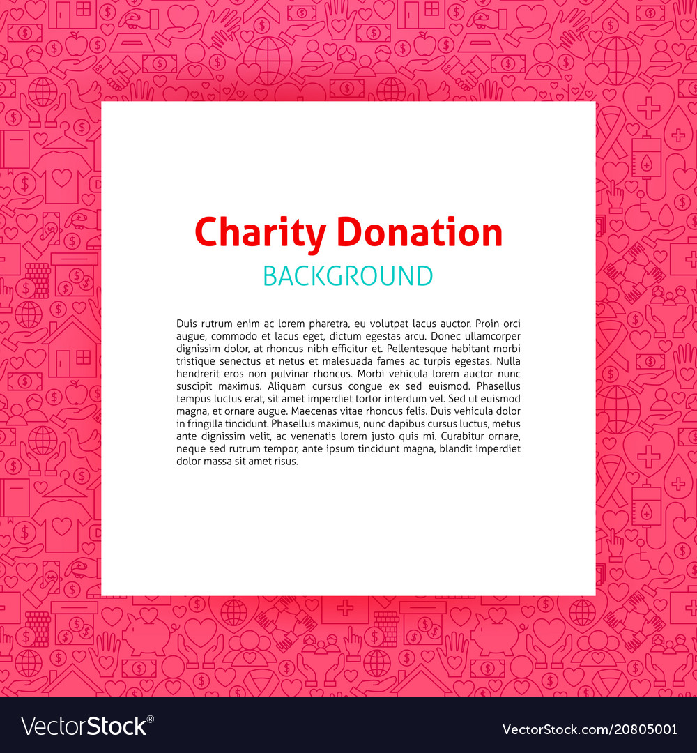 Charity donation paper template