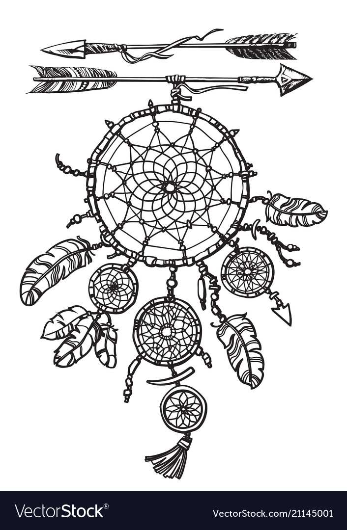 Dream catcher with arrows