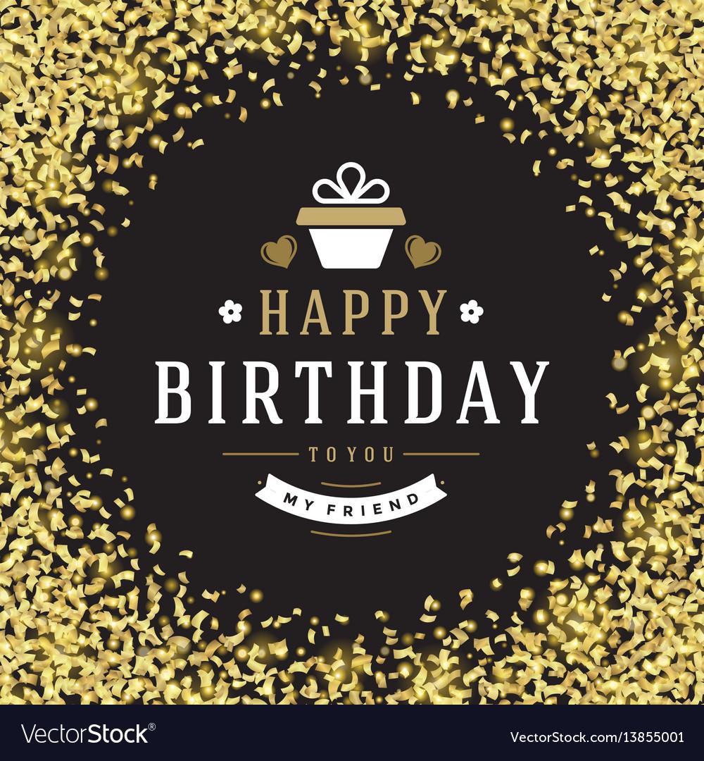 Happy birthday greeting card design