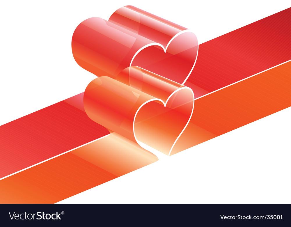 Heart lines vector image